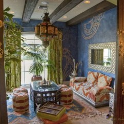 Camel And Gray Living Room Cabinet With Doors Moroccan | Houzz