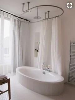douche dans une baignoire ilot