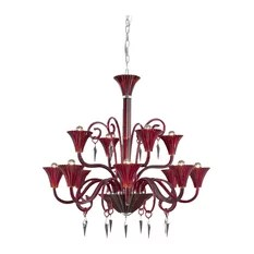 Elegant Furniture Lighting 8812 Symphony Collection Hanging Fixture Cut Chandeliers