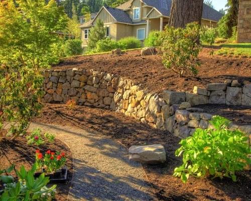 boulder retaining wall home design