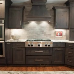 Semi Custom Kitchen Cabinets Reviews Island Bar Lights Grey Stained Alder | Houzz