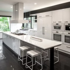 White Kitchen Floor Long Light Fixtures Black And Tile Ideas Photos Houzz Huge Contemporary Open Concept Galley Porcelain