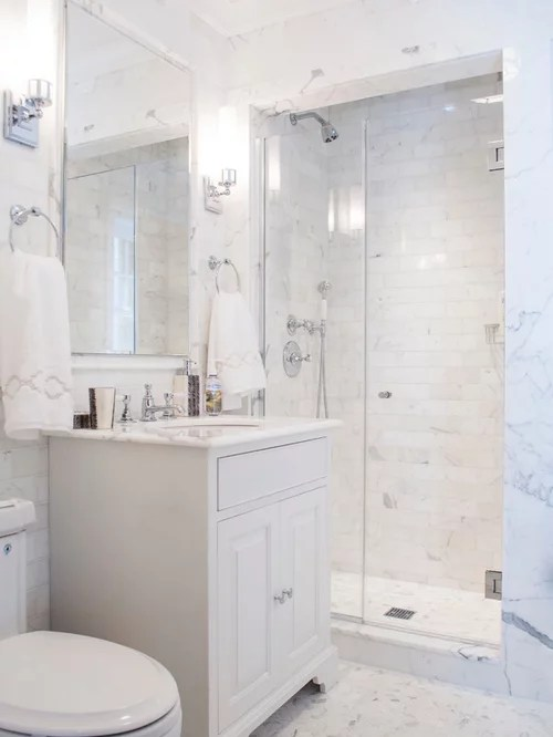 Small White Bathroom  Houzz