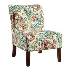 floral print accent chairs sears lift 50 most popular nature armchairs and linon home decor products julie curved back slipper chair