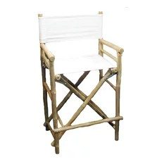 directors chair bar stool gliding adirondack chairs director stools counter houzz bamboo54 bamboo high set of 2 white
