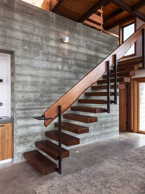 Floating Stair Treads Home Design Ideas Pictures Remodel