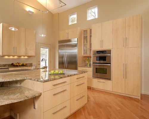 Natural Maple Cabinets  Houzz
