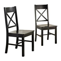 distressed black dining chairs swing chair no stand 50 most popular room for 2019 houzz walker edison wood set of 2