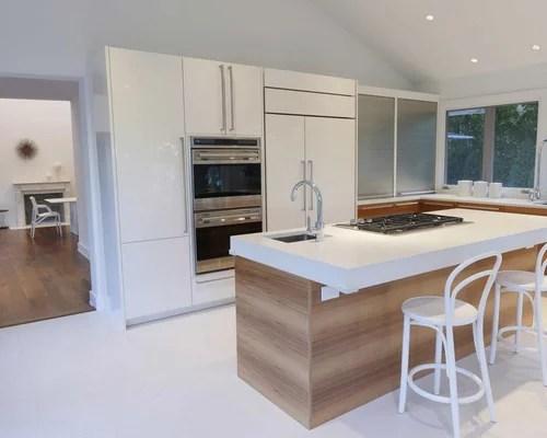 st charles steel kitchen cabinets white sink with drainboard modern island | houzz