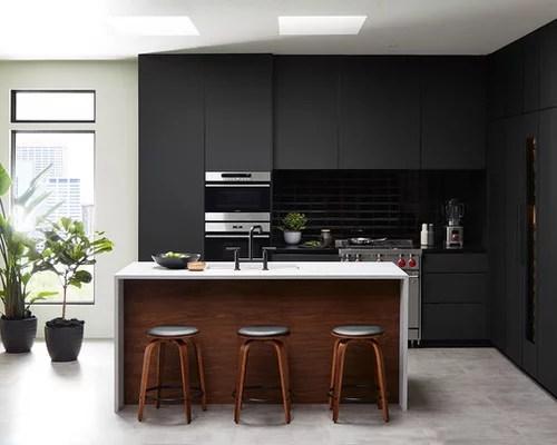 Matte Black Kitchen With FENIX NTM