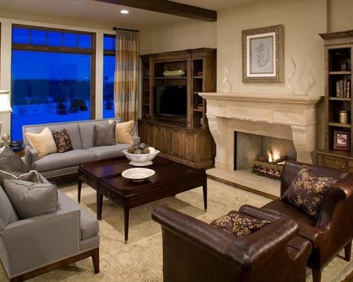 Brown And Gray Home Design Ideas Pictures Remodel and Decor