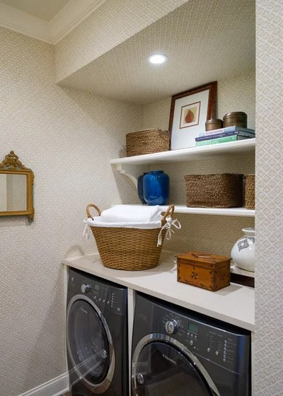 Transitional Laundry Room by AJ Margulis Interiors