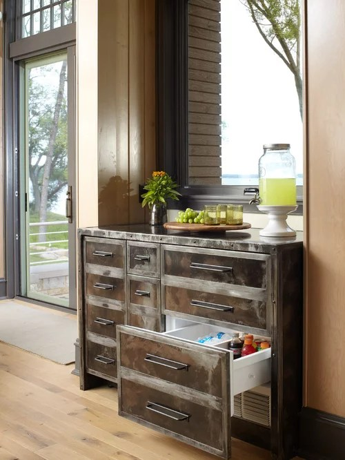compact kitchen furniture tile for hidden refrigerator | houzz