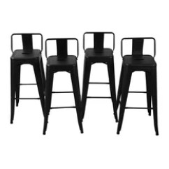 Outdoor Bar Chairs 2 X 4 Chair 50 Most Popular Stools For 2019 Houzz Belleze Low Back Indoor Black Set Of Height