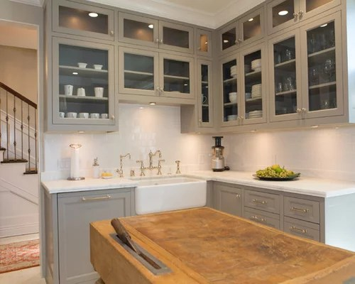 rohl kitchen faucet bright lighting taupe cabinets | houzz