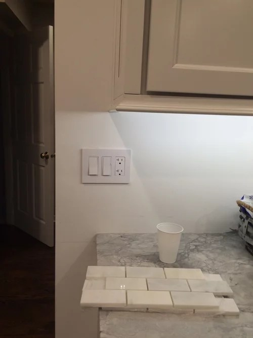 where to end backsplash in awkward spot