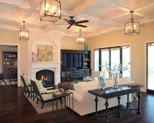 Center Fireplace Home Design Ideas, Pictures, Remodel And