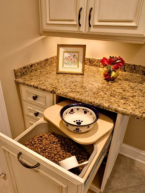 corner drawer kitchen cabinet driftwood cabinets pet food storage ideas, pictures, remodel and decor