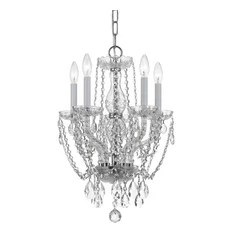 Crystorama Lighting Crystal 5 Lt Swarovski Strass Mini Chandelier Chandeliers
