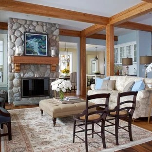 75 Beautiful Rustic Living Room With Blue Walls Pictures Ideas October 2020 Houzz