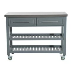 Rolling Kitchen Carts Hansgrohe Faucets 50 Most Popular Islands And For 2019 Houzz Aosom Island Rustic Storage Cart On Wheels Stainless Steel Top