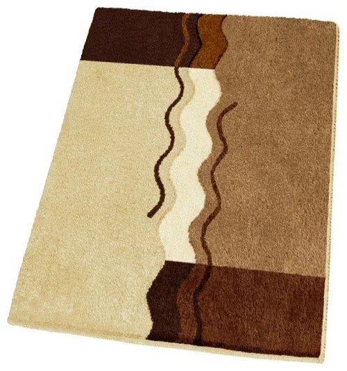 Modern Thick Washable Bathroom Rugs  Brown