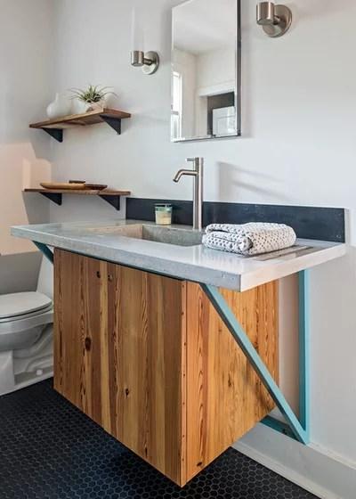 Midcentury Bathroom by Christen Ales Interior Design