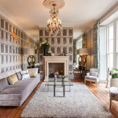 Gray Couch Living Room Decor Chairs For Fornasetti Wallpaper Ideas, Pictures, Remodel And