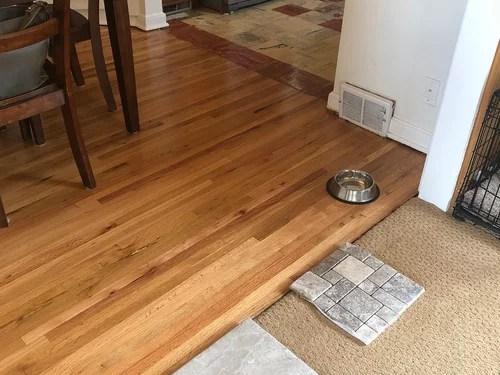 with oak hardwood flooring