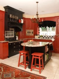 Red And Black Kitchen Home Design Ideas, Pictures, Remodel ...