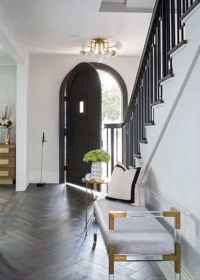 Transitional Entry by Breeze Giannasio Interiors