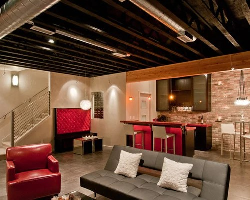 Unfinished Basement Ceiling Home Design Ideas Pictures