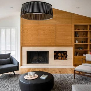 Foto E Idee Per Living Living Moderno Con Camino Classico