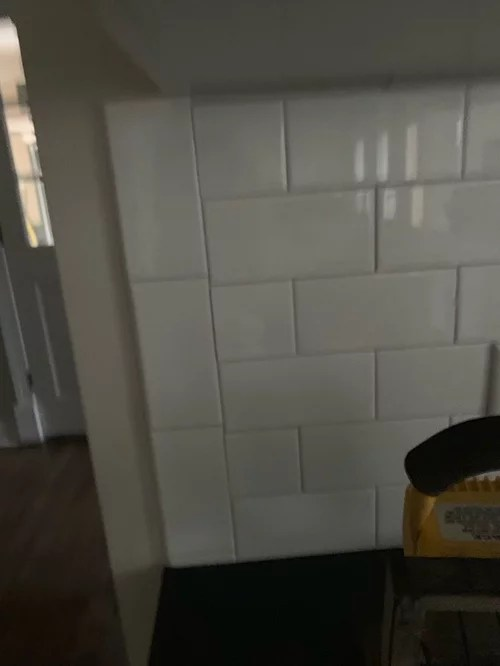 finihing edge of subway tile