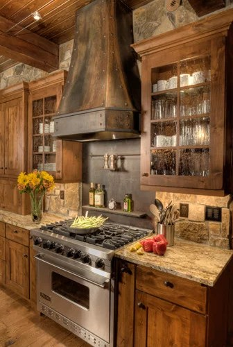 Rustic Stone Backsplash Home Design Ideas Pictures Remodel And Decor