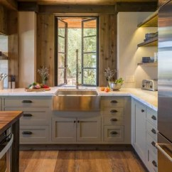 Rustic Kitchen Cabinet Recessed Lighting For 75 Most Popular Design Ideas 2019 Stylish Mid Sized Mountain Style L Shaped Medium