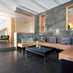 Living Room Tiles Wall Earth Tone Paint Colors For Ideas Photos Houzz Large Trendy Formal And Open Concept Ceramic Floor Gray Photo In New