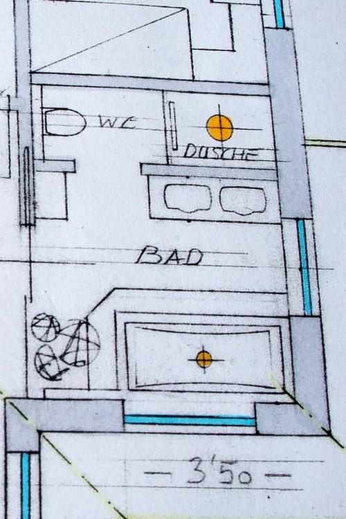 Badezimmer im Neubau  Fragen zur Aufteilung