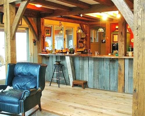Timber Frame Kitchen  Houzz