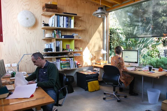 Contemporary Home Office by Sushiiphoto