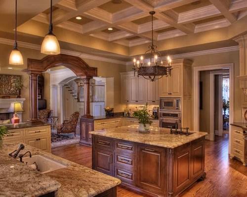 Coffered Ceiling Kitchen  Houzz