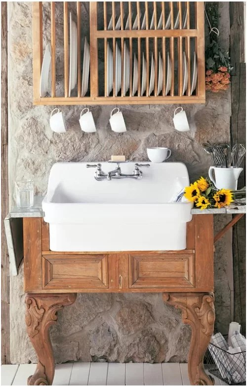 wall mounted apron front sink