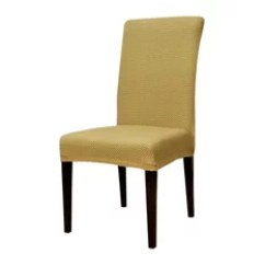 Yellow Chair Covers Outdoor Relaxer 50 Most Popular Slipcovers And For 2019 Houzz Subrtex Stretch Dining Room Beige Raised Dots Set Of 4