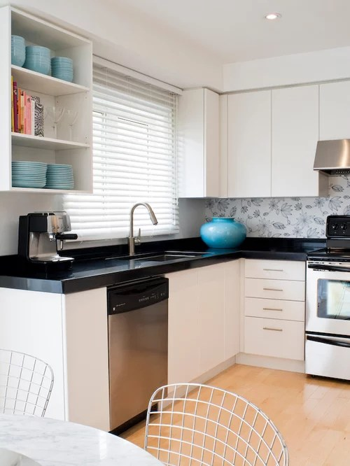 White Cape Cod Style House Wallpaper Backsplash | Houzz