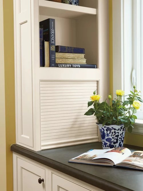 under cabinet shelving kitchen how many gallons is a trash can tambour door appliance garage ideas, pictures, remodel and ...