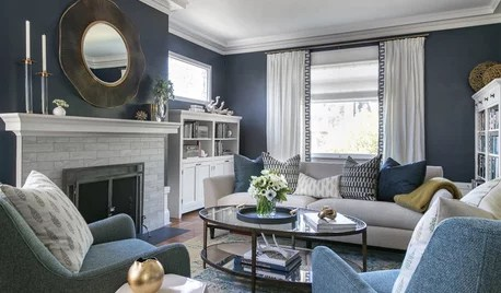 transitional style living room bench on houzz tips from the experts traditional spaces get a contemporary makeover