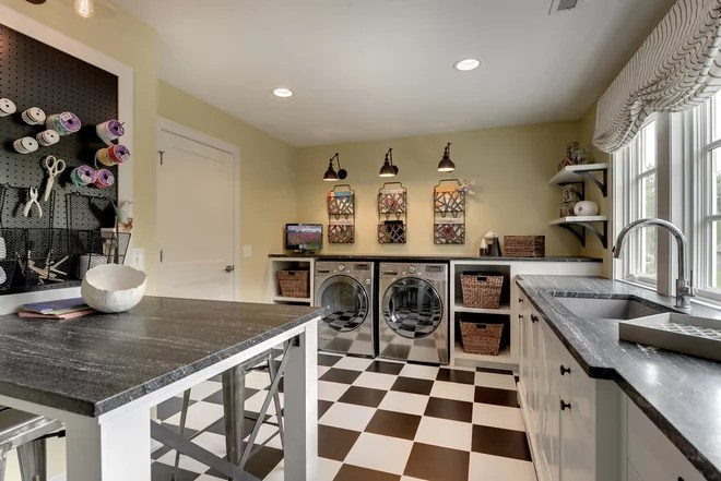 Traditional Laundry Room by REFINED LLC