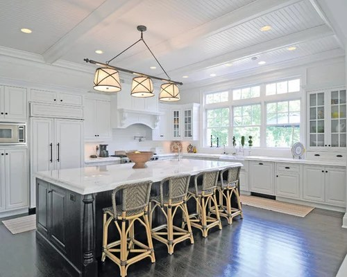 subway tile backsplash kitchen cabinets for beadboard ceiling with beams design ideas & remodel ...