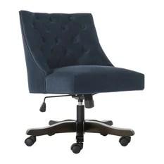 tufted desk chair cover hire coventry 50 most popular office chairs for 2019 houzz safavieh soho velvet swivel navy