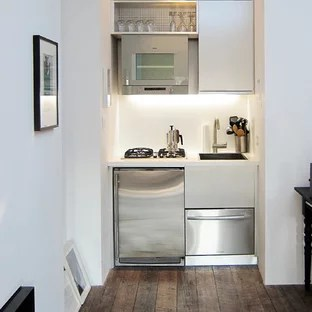small apartment kitchen ideas hide away trash bin kitchens houzz contemporary single wall idea in new